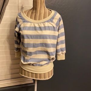 2/$15 XXI forever 21 blue striped pullover